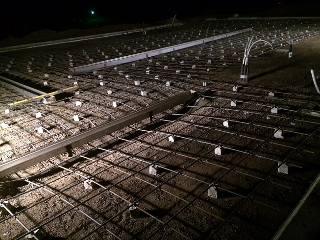 rebar at night
